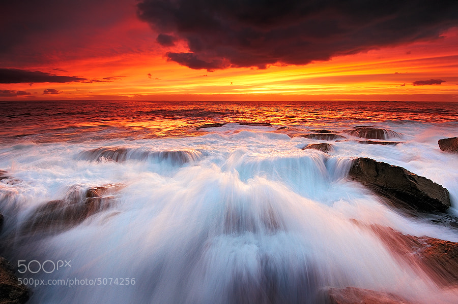 Photograph Burning Sea by AtomicZen : ) on 500px