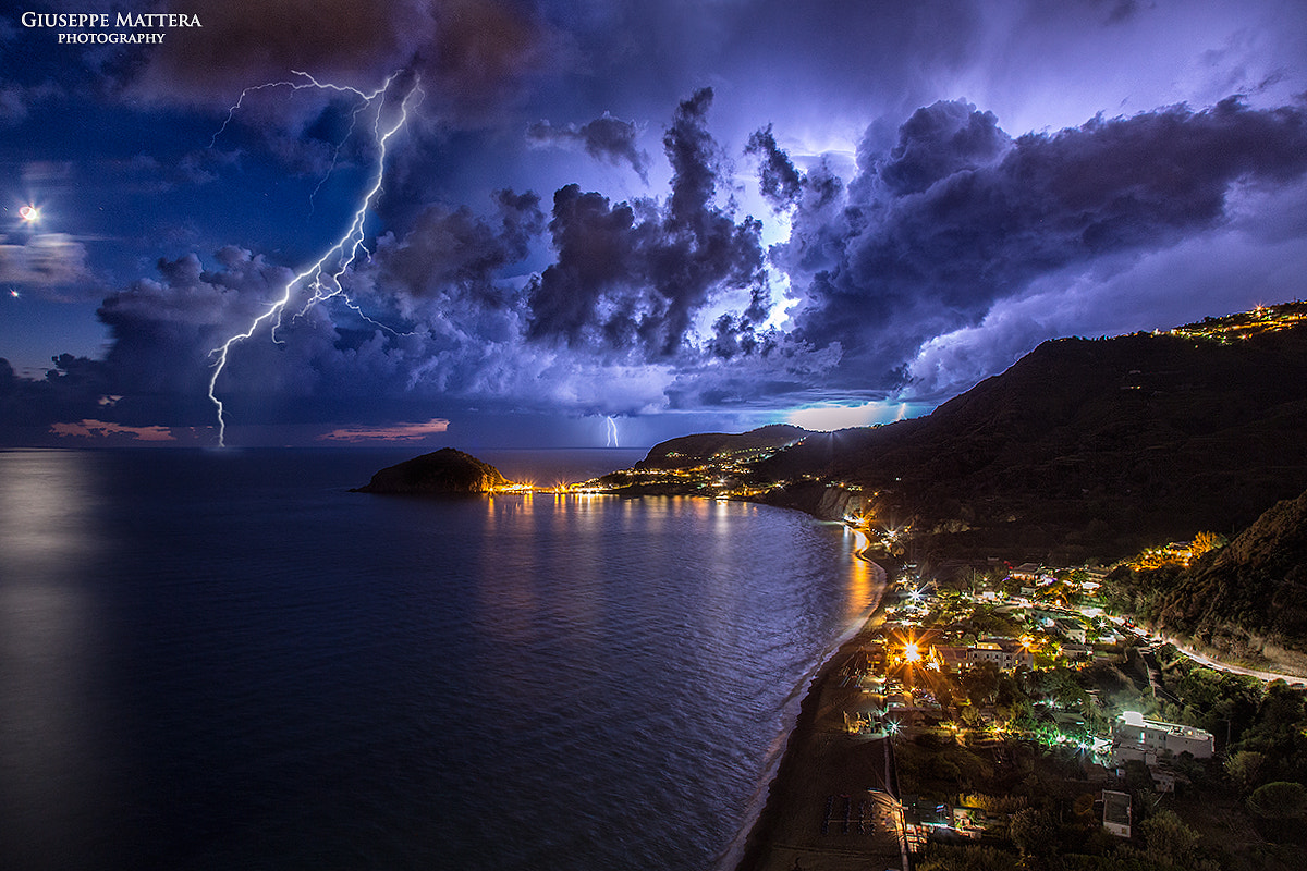 Photograph Lightning storm by Giuseppe Mattera on 500px