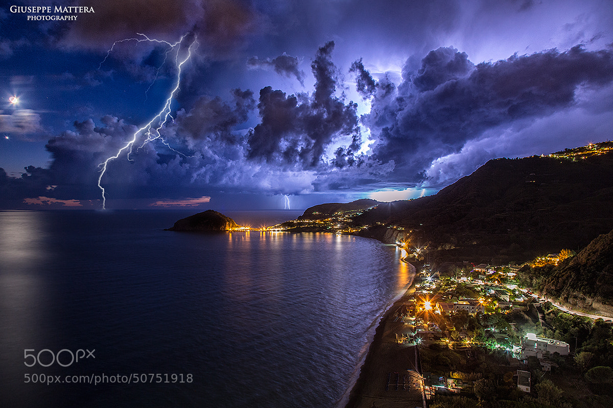 Photograph Lightning storm by Giuseppe Mattera on 500px
