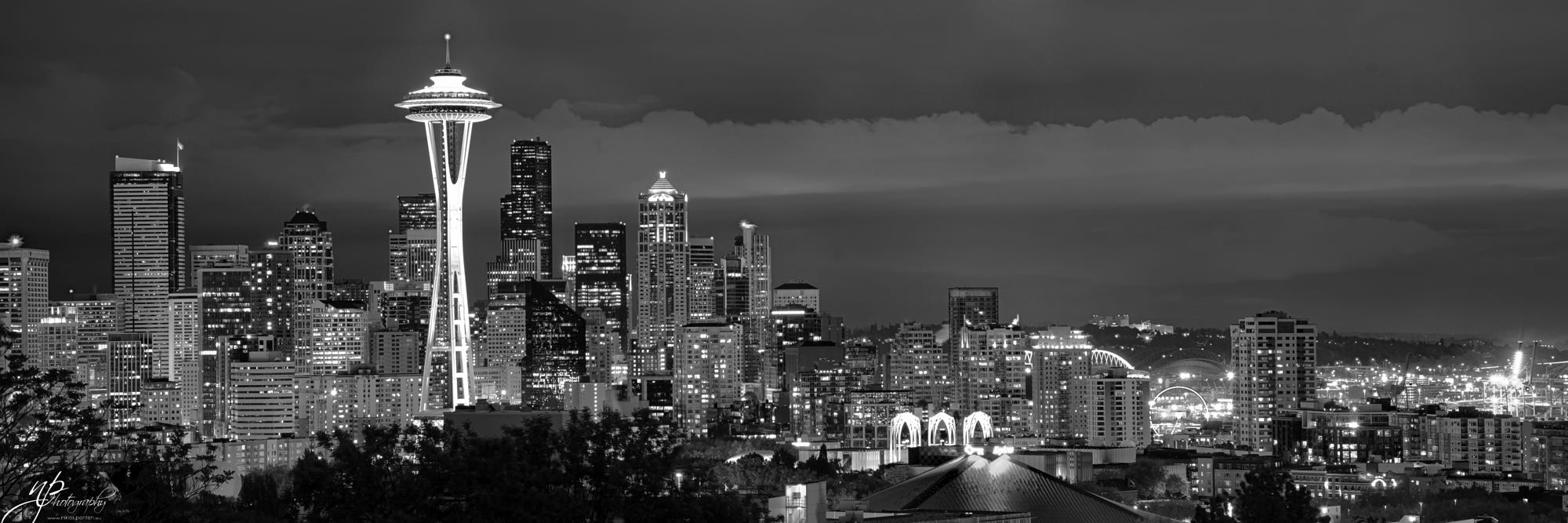 See all pictures - Seattle Skyline Panorama Zoom B Amp W By Niklas Panten Photo