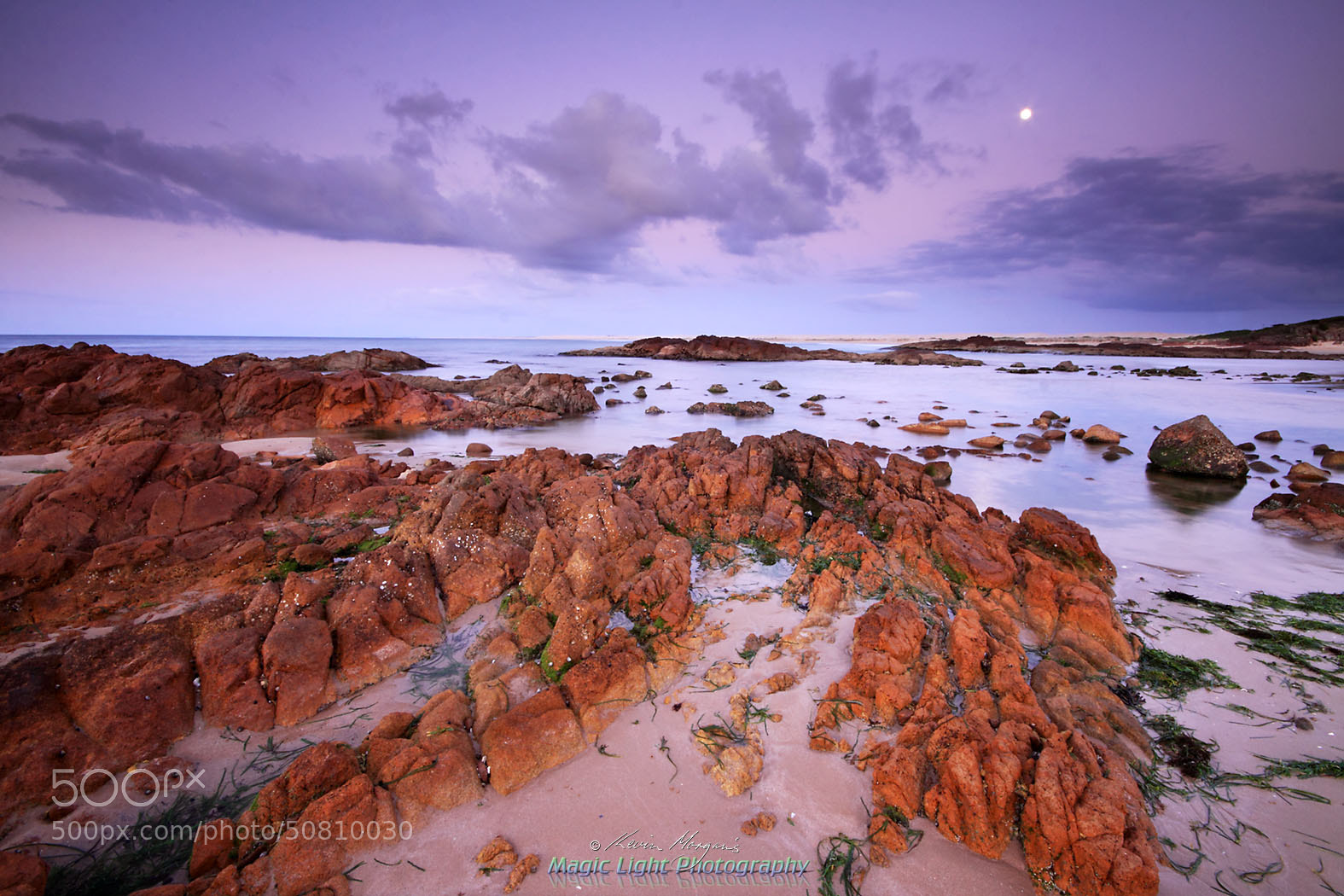 Photograph Moonset over Birubi Beach by Kevin Morgan on 500px
