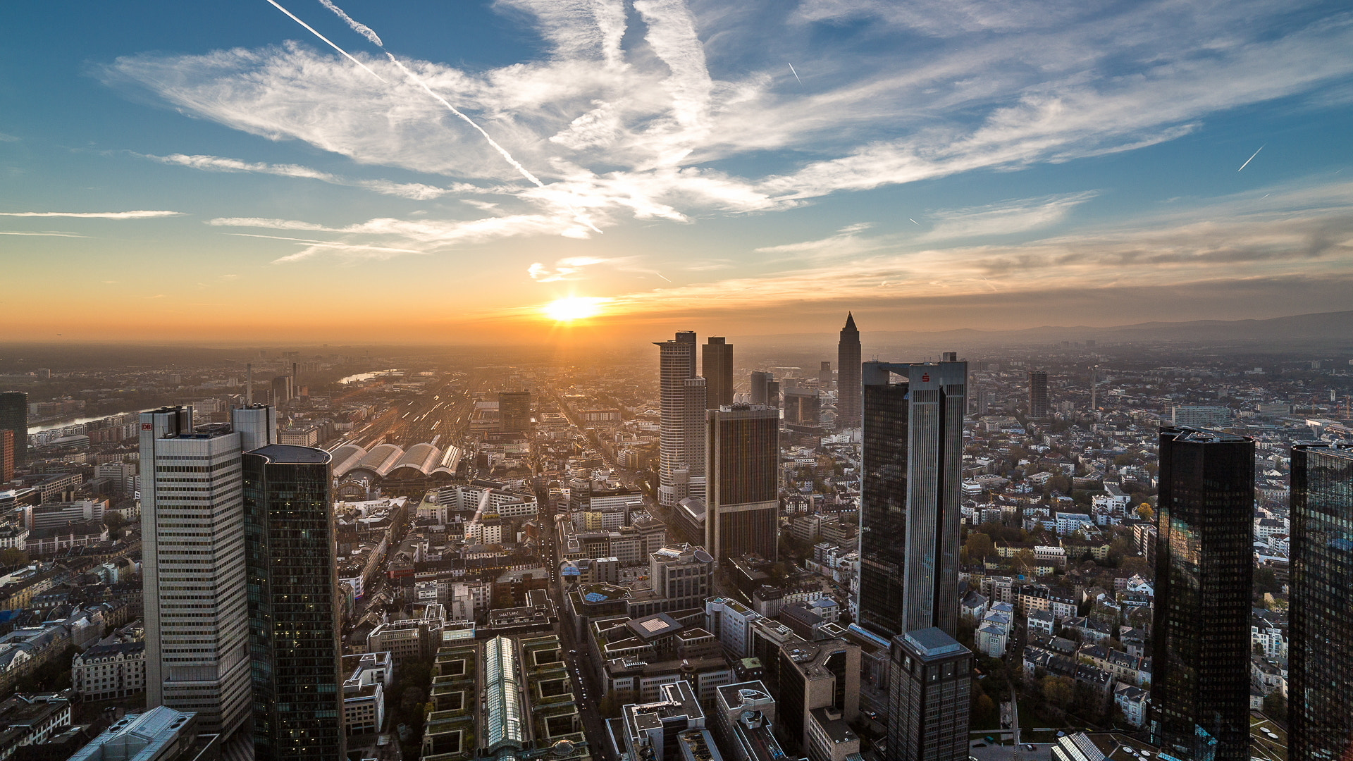 Photograph Sunset in Frankfurt by DF Photography on 500px