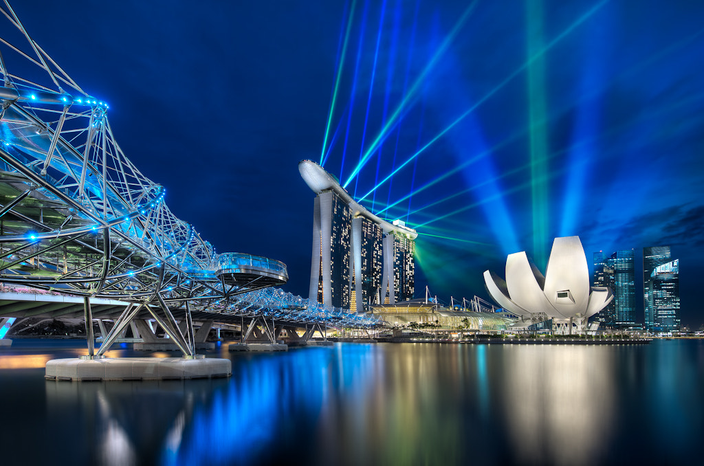 Photograph Marina Bay Sands and The Helix Bridge by Elia Locardi on 500px