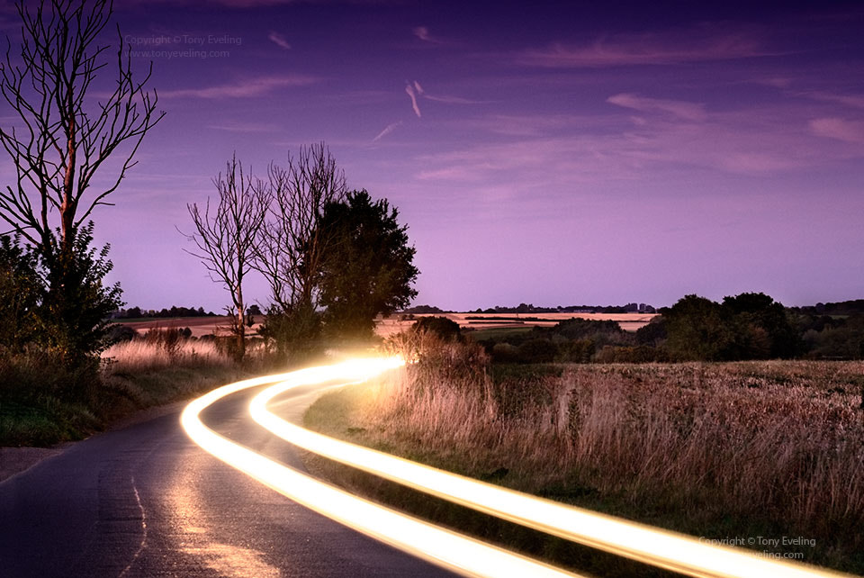 Photograph Light trails at dusk by Tony  on 500px