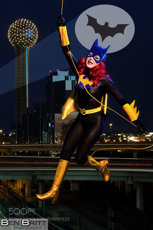 Batgirl with Batsignal by Ben Britt on 500px.com