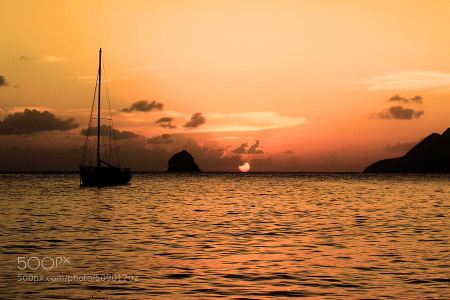 Photograph Sunset in Martinique by Khalil Hammami on 500px