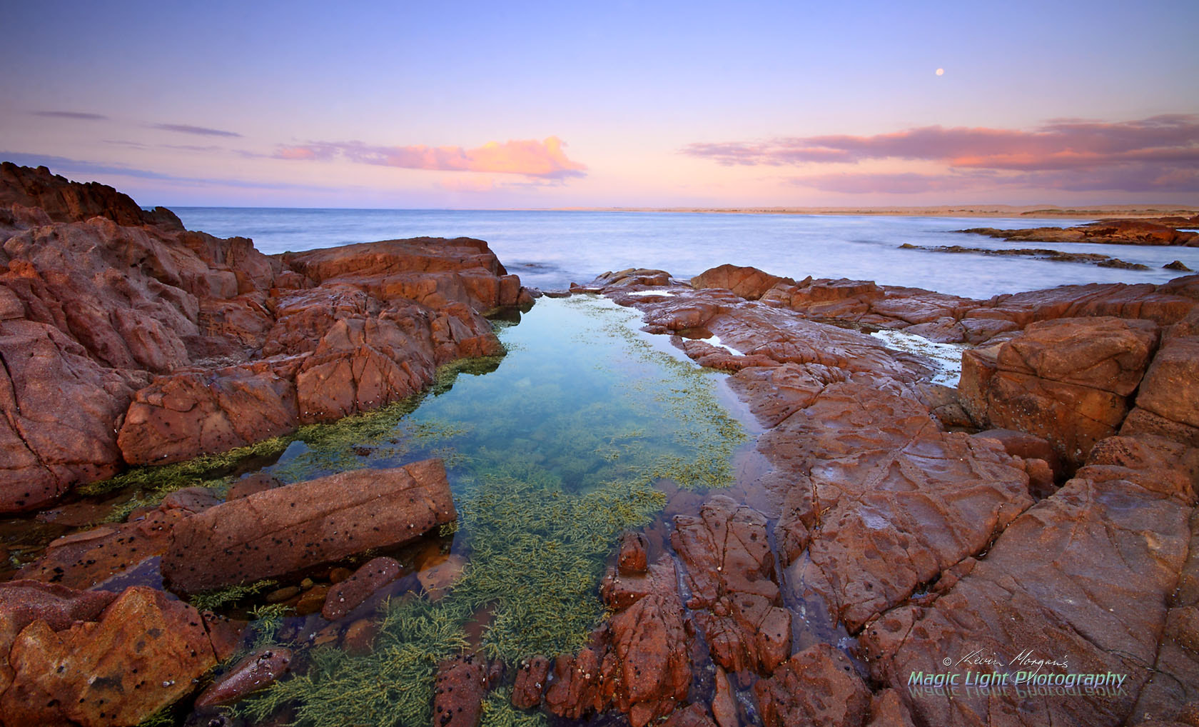 Photograph Moonset at Birubi Point by Kevin Morgan on 500px