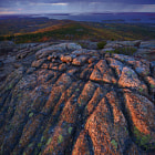 Final seconds of light on Cadillac mountain, Acadia National Park, Maine, USA