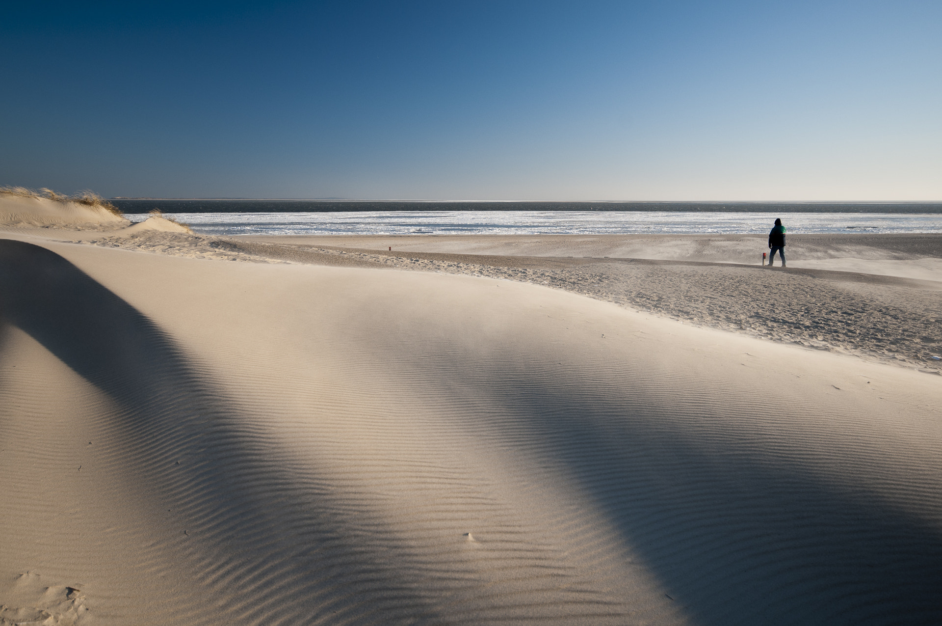 Photograph Dunes, cold wind, frozen Waddensea, Texel, Netherlands by Ineke Nientied on 500px