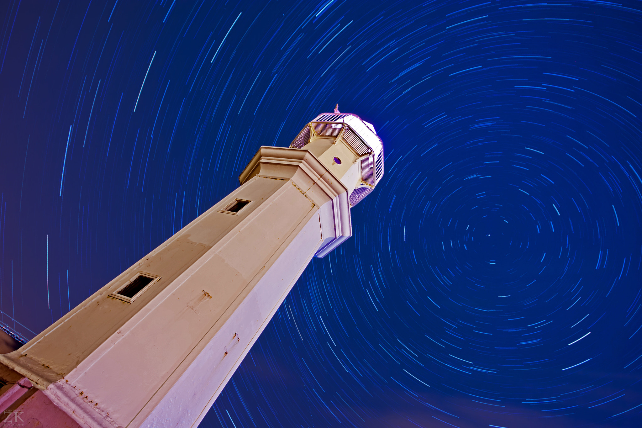 Photograph Newhaven Lighthouse Star Trails by Zain Kapasi on 500px