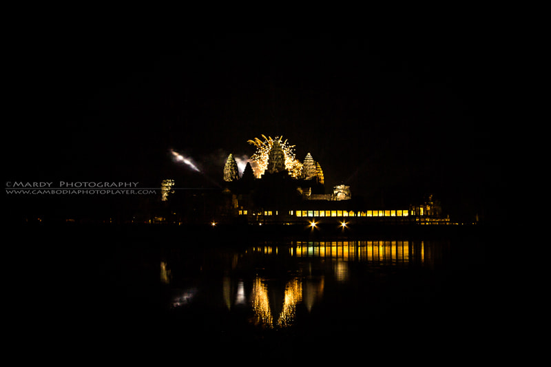 Photograph Firework with World Heritage of Angkor Wat! by Mardy Suong Photography on 500px