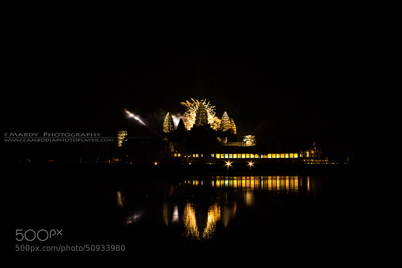 Photograph Firework with World Heritage of Angkor Wat! by Mardy Photography on 500px