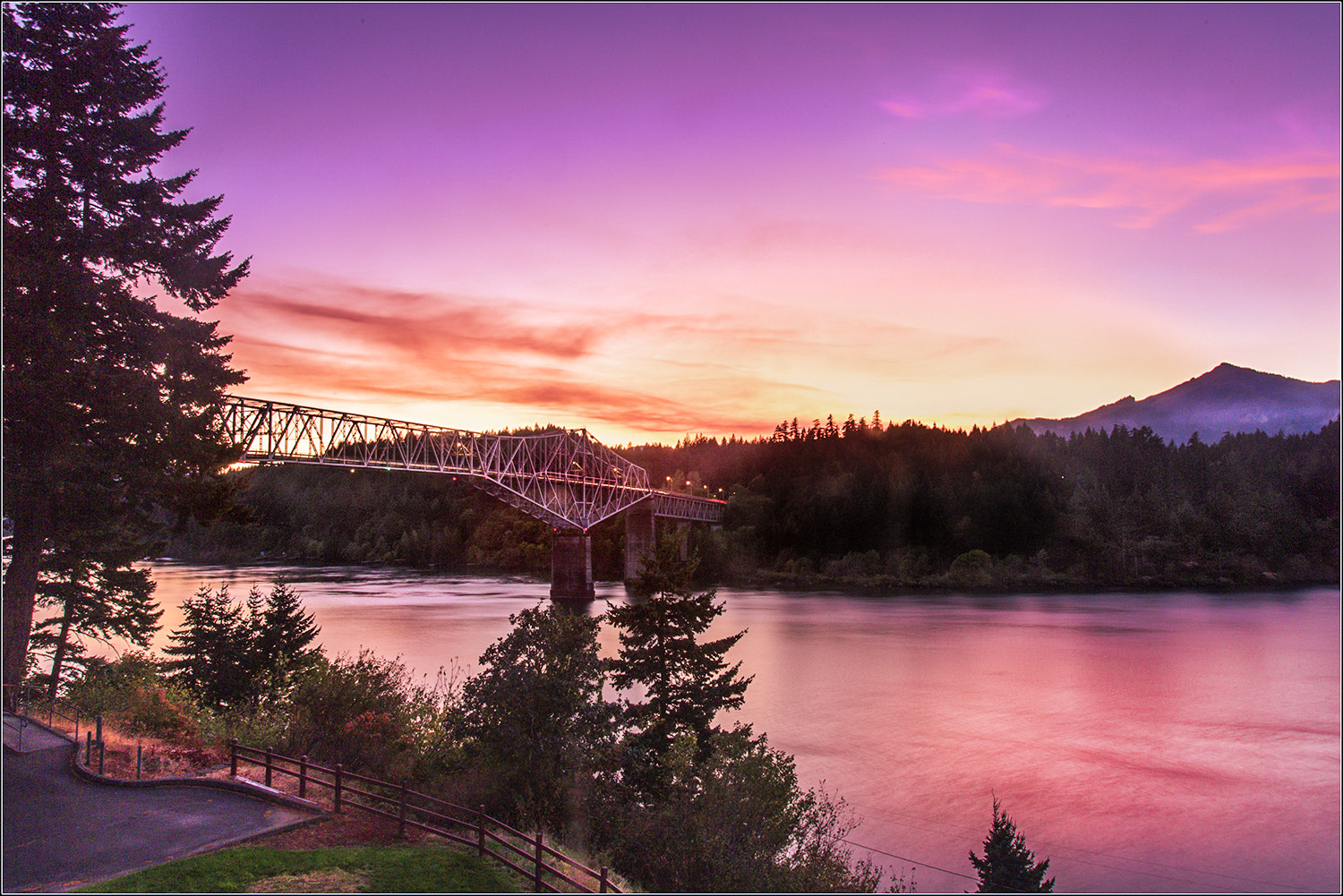 Photograph Bridge at sunset by Brian Clark on 500px