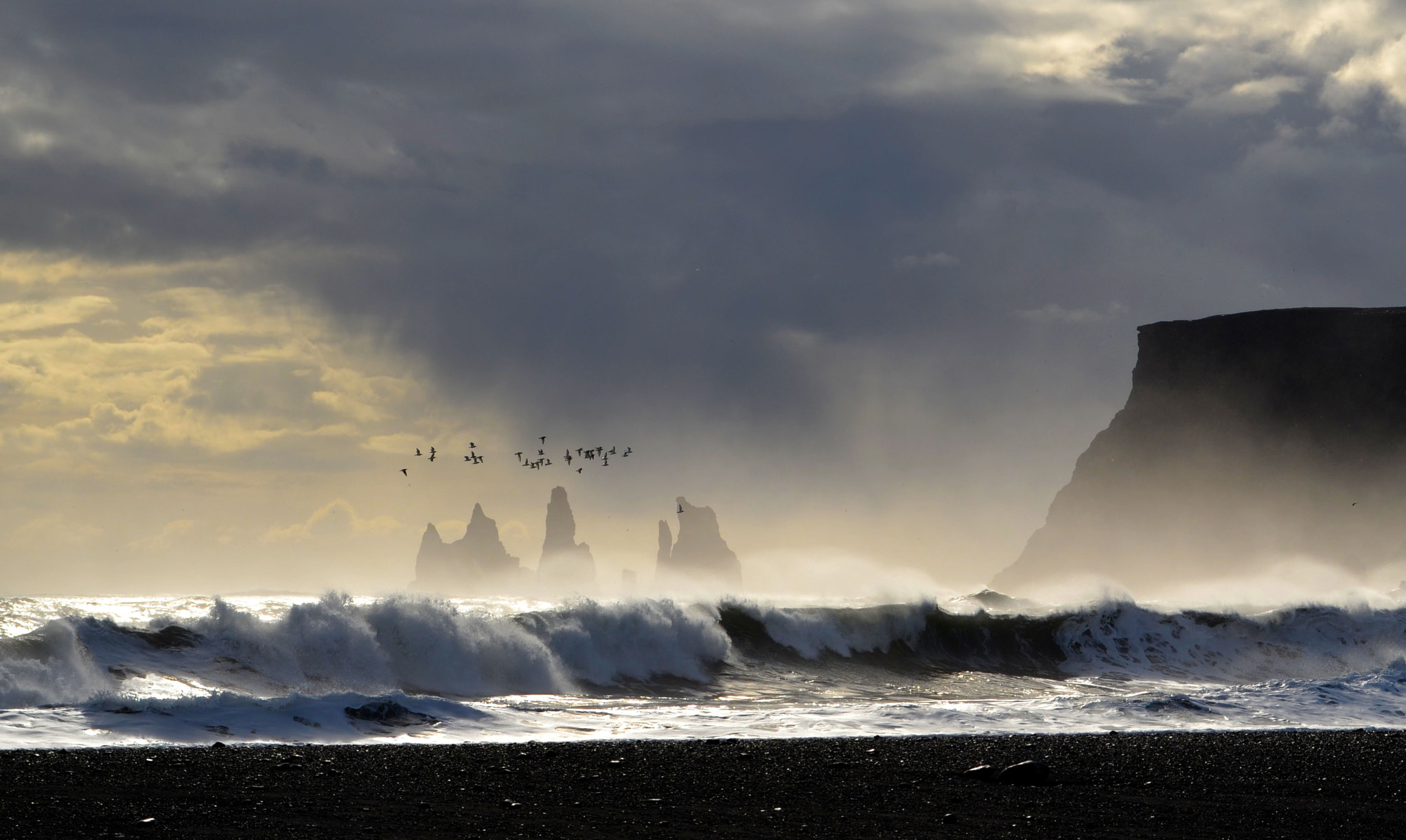 Photograph Black Sand Beach, Iceland by victorw2 on 500px
