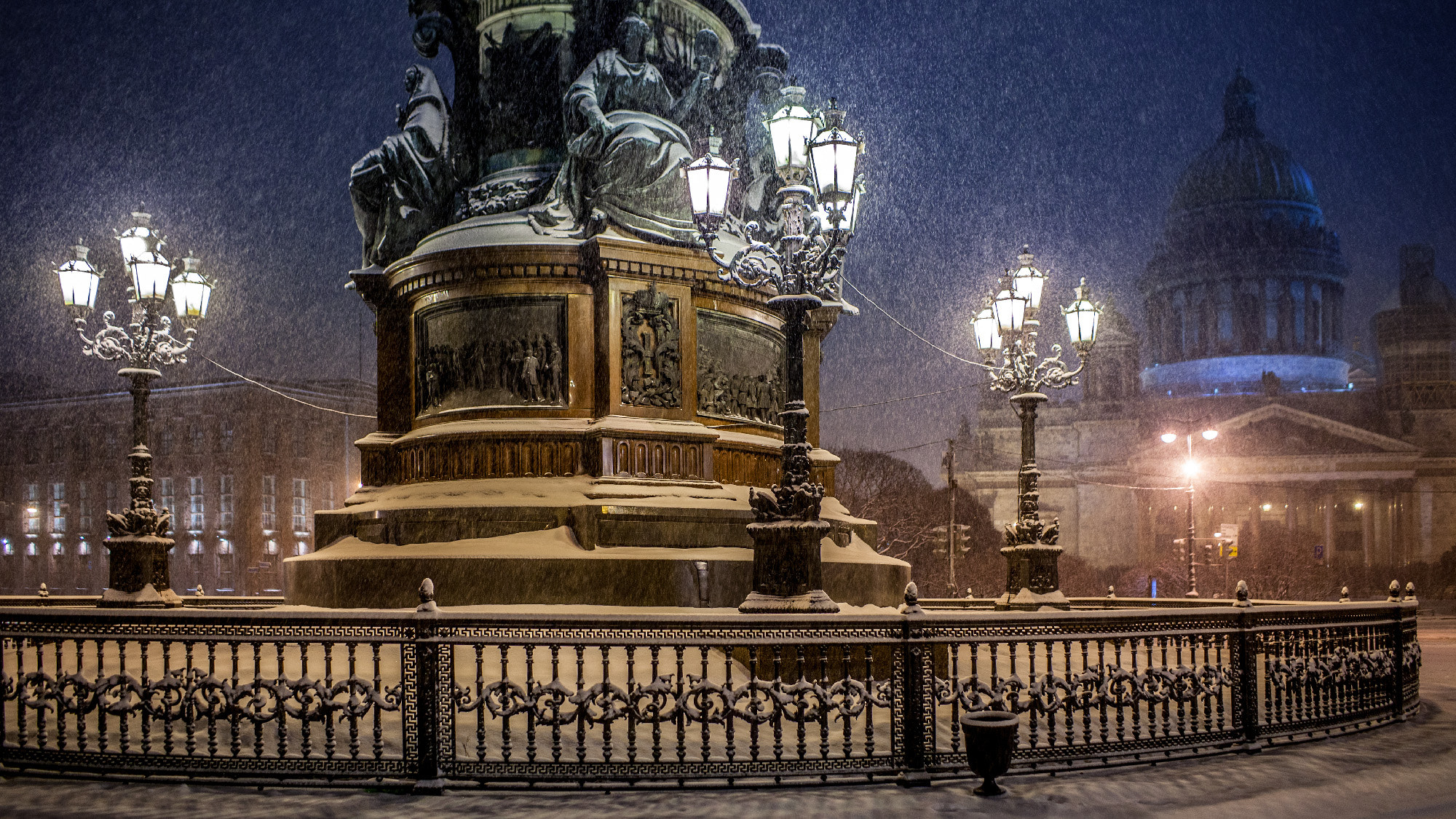 Photograph Isaacs square, Saint-Petersburg by Sergey Bogomyako on 500px