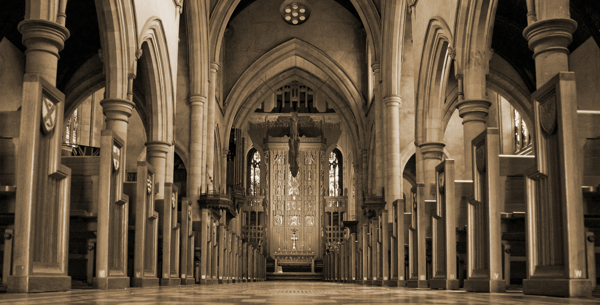 Photograph Cathedral aisle by Andrew Dickman on 500px