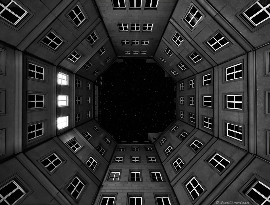 Photograph Octagon under the stars by Scott Dimond on 500px