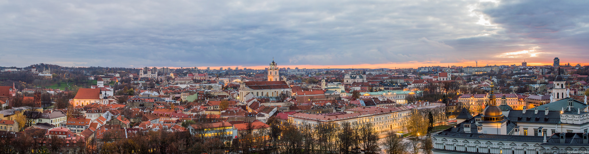 Photograph Vilnius old town in the evening by Norbert Durko on 500px