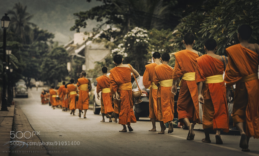 Photograph Alms Giving Ceremony by Drew Hopper on 500px