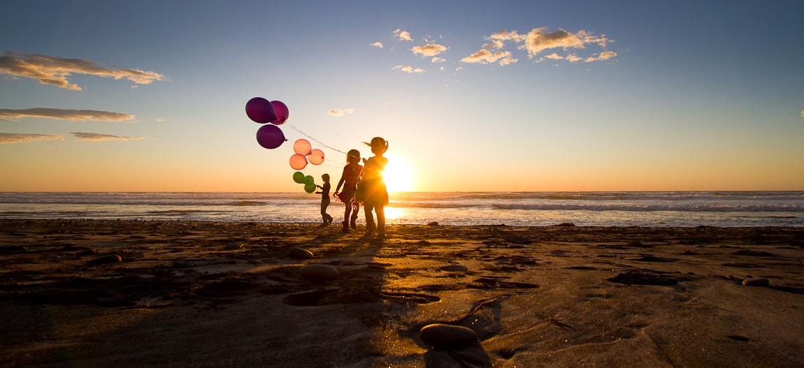 Photograph Sunset on the Beach Childhood Joy by Erika Thornes on 500px