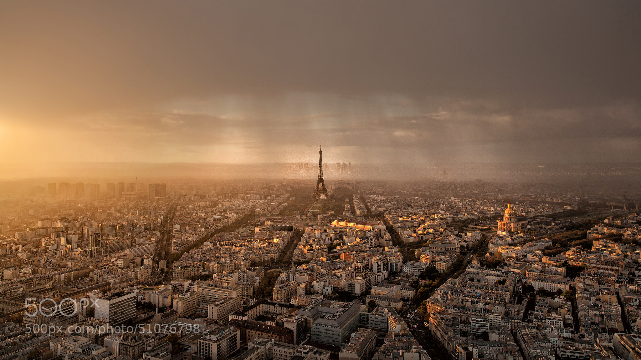 Photograph Paris • Sunset and Rain by Thomas Fliegner on 500px