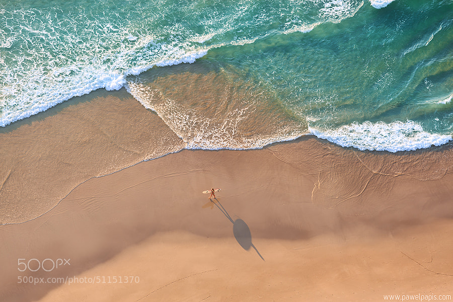 Photograph Lone Surfer by Pawel Papis on 500px