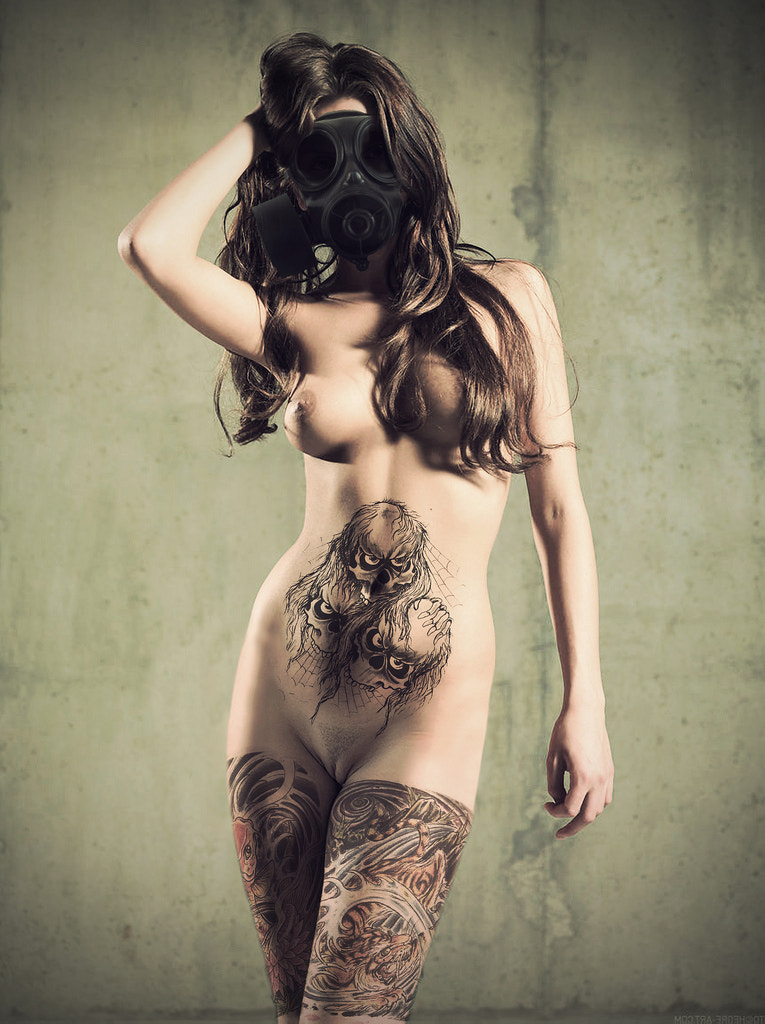 Photograph Gas Mask + Tattoo by M2ATK on 500px