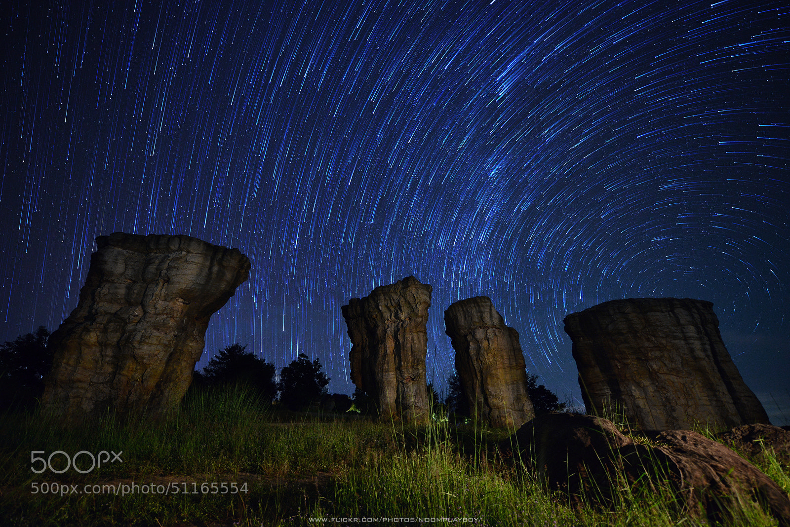Photograph Startrails : Mo Hin Khao is Stonehenge Of Thailand by noomplayboy  on 500px