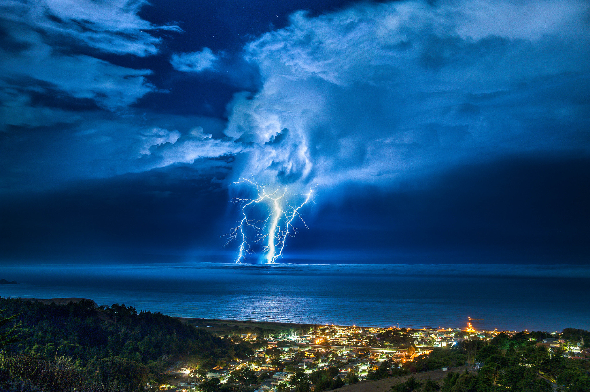 Photograph Lightning Strike over the Pacific. by Craig Hudson on 500px