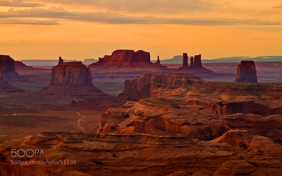 Photograph Sunset over Monument Valley by Gleb Tarro on 500px