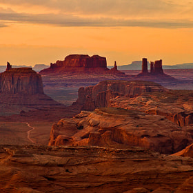 Sunset over Monument Valley by Gleb Tarro (Gleb_Tarro)) on 500px.com