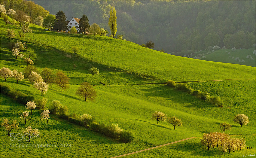 Photograph House on the green Hill by Jan Geerk on 500px