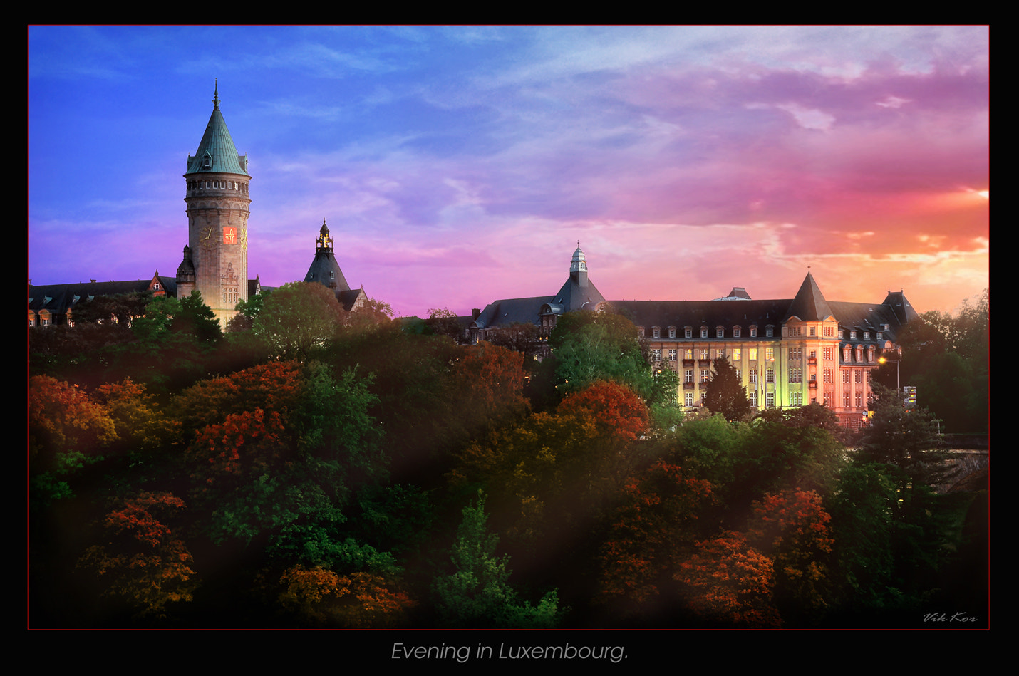 Photograph Evening in Luxembourg by Viktor Korostynski on 500px