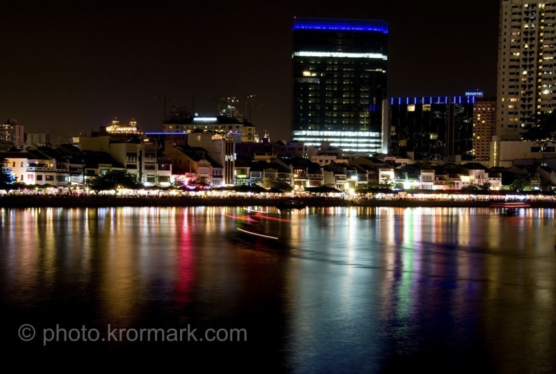 Photograph Night at Boat Quay by Kim  Rormark on 500px