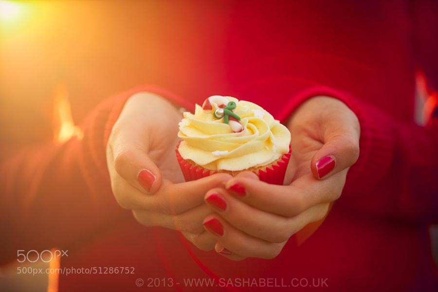 Photograph Candy Cane Cupcake by Sasha L'Estrange-Bell on 500px
