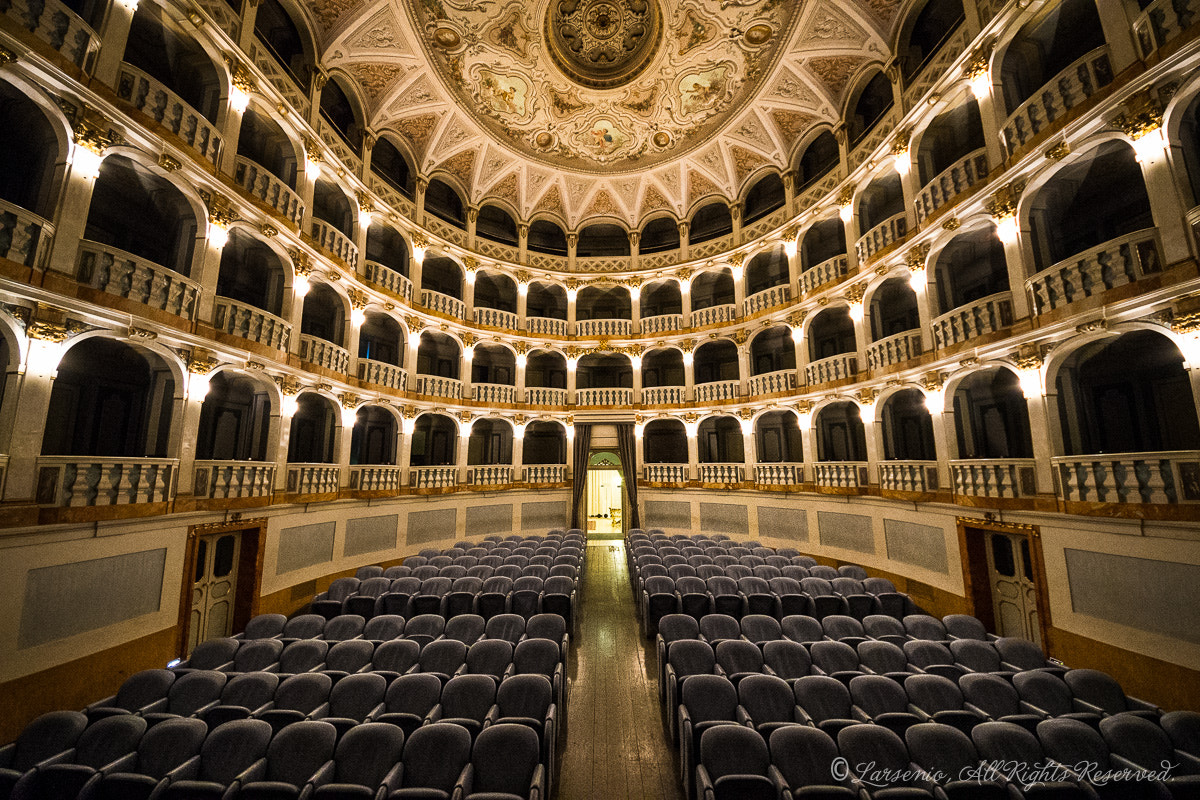 Photograph Teatro Lauro Rossi, inside by Roberto Flamini on 500px