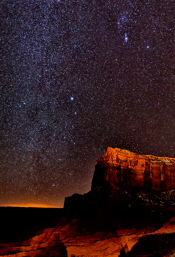 Photograph Starry Night in Monument Valley by Christopher R. Gray on 500px