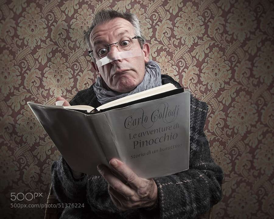 "Photograph Reading Pinocchio (from ""the book"" series) by Pierre Beteille on 500px"