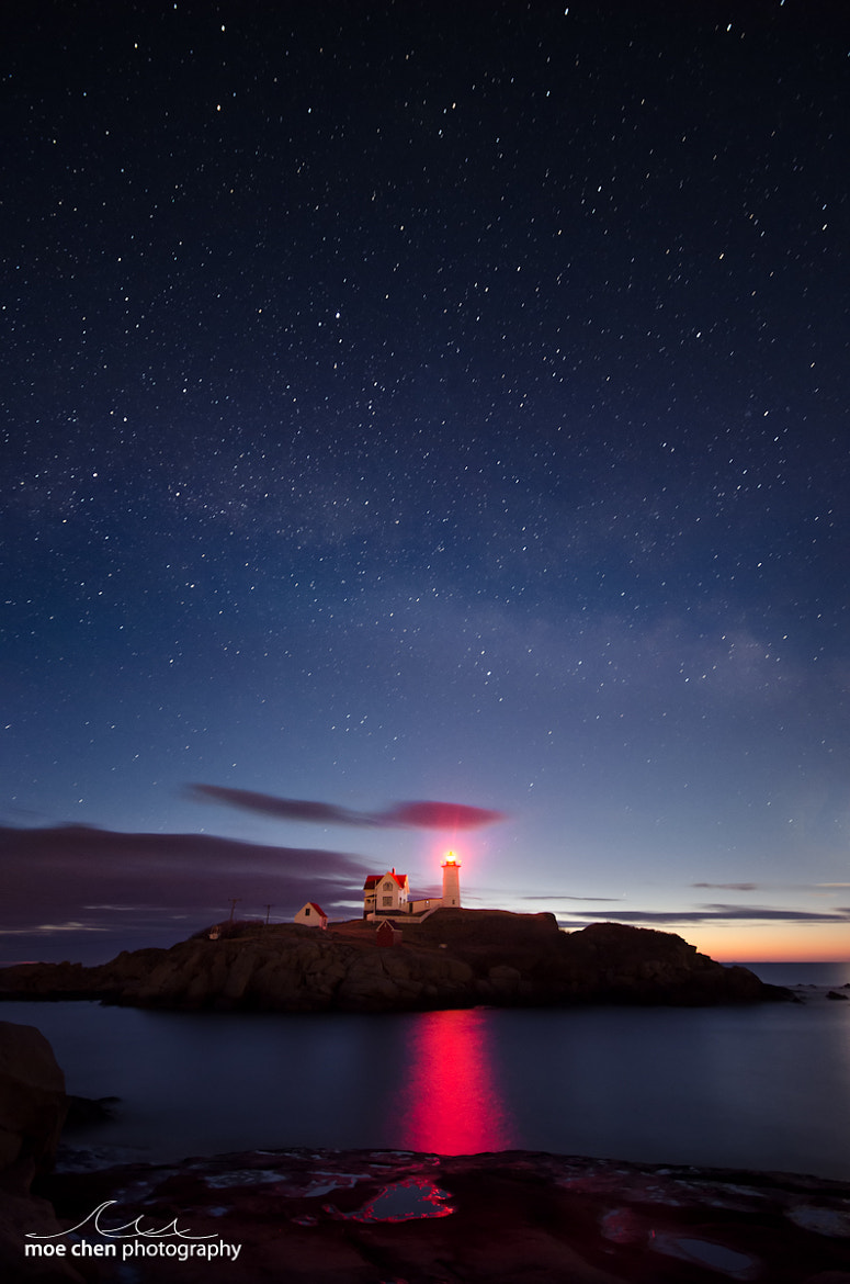 Photograph Nubble Nights by Moe Chen on 500px