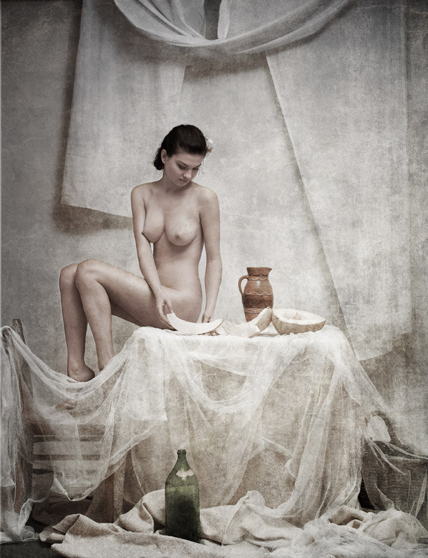 Photograph The still life with girl a girl and melon by Arnautov Dmitry on 500px
