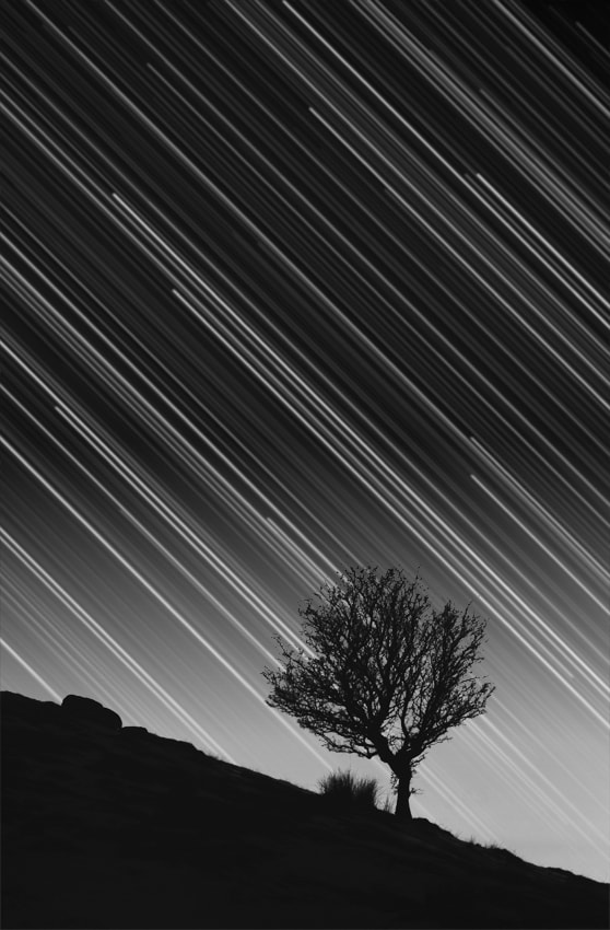 A stack of 150x 30sec exposures