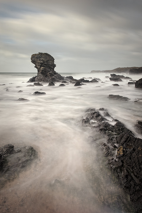 Porth y Post, a small bay on Anglesey.