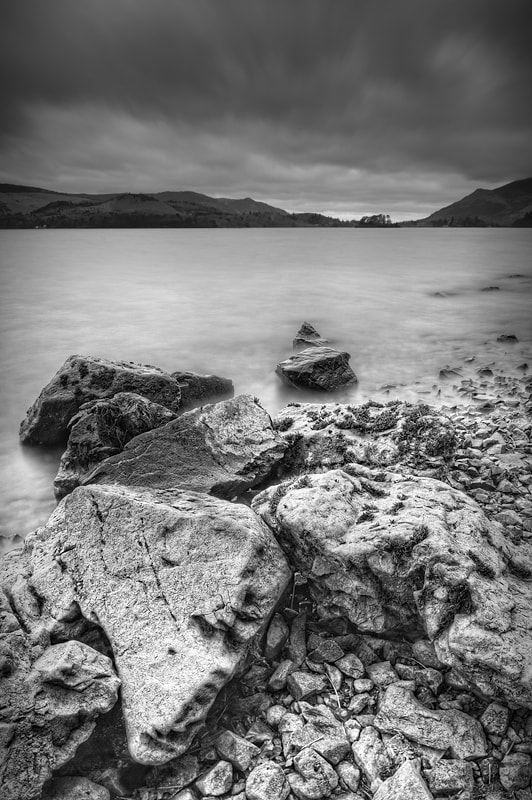 A view of Derwent Water in the Lake District with Barrow and Skiddaw in the background.