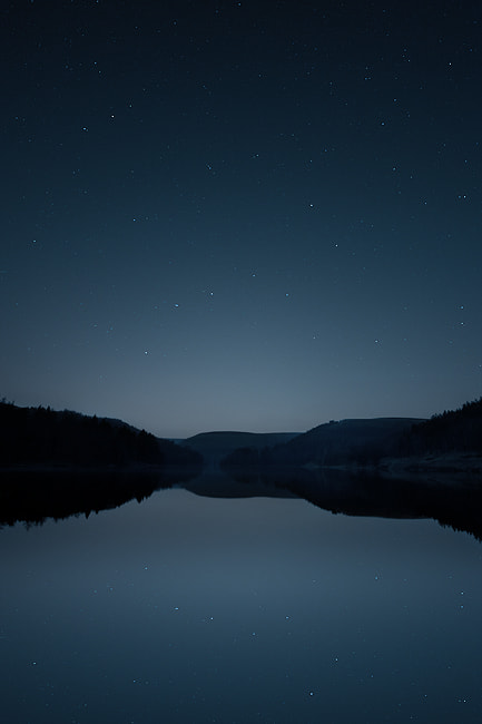 The Plough, or Ursa Major over Howden Reservoir in the Peak District