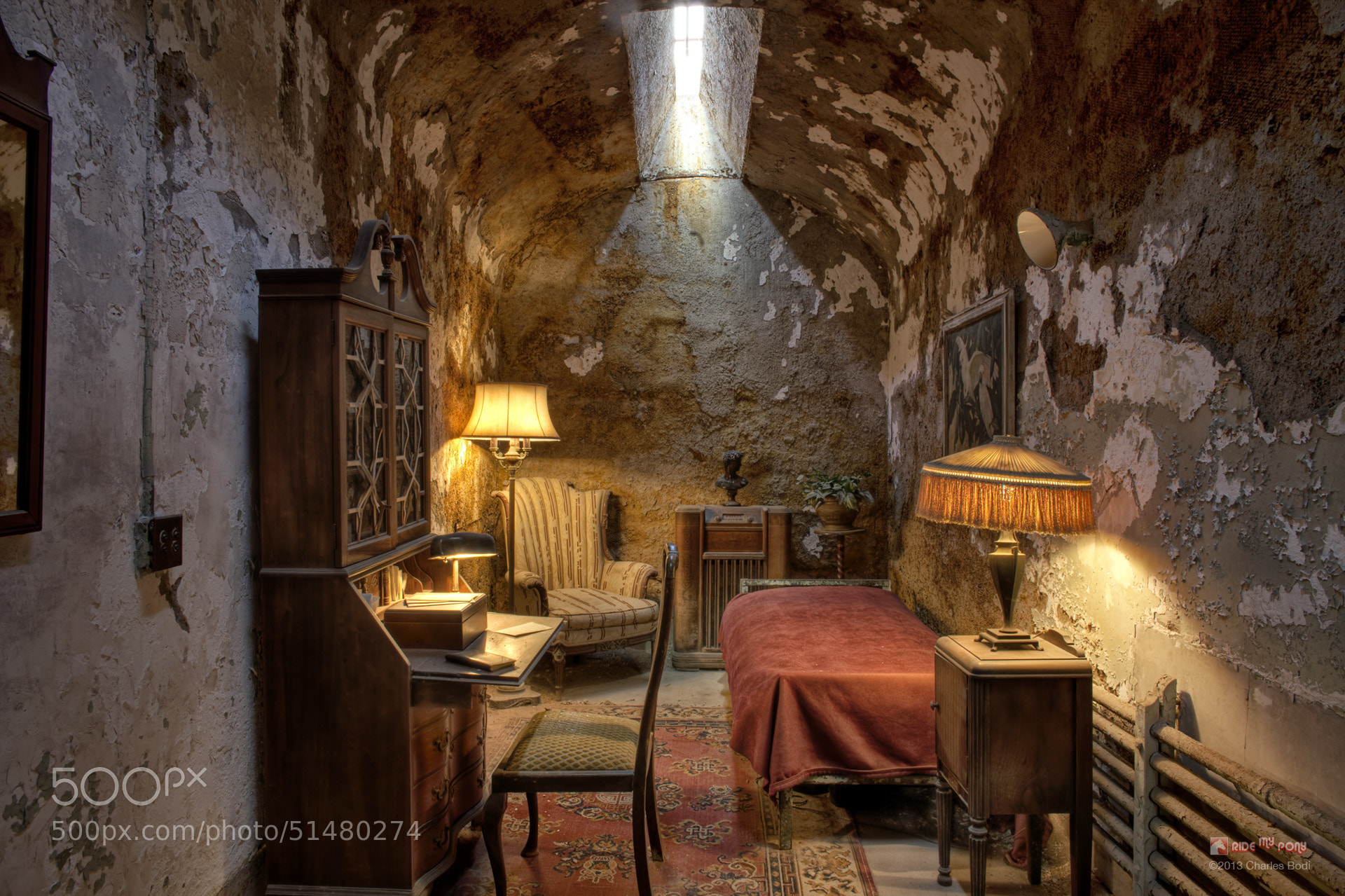 Photograph Al Capone Prison Cell by Charles Bodi on 500px