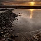 Newborough Warren beach at sunset