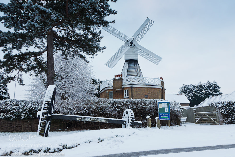 Photograph Snowy Wimbledon Windmill by Peter Paredes on 500px