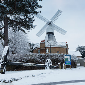 Snowy Wimbledon Windmill by Peter Paredes (ParedesPhotography)) on 500px.com