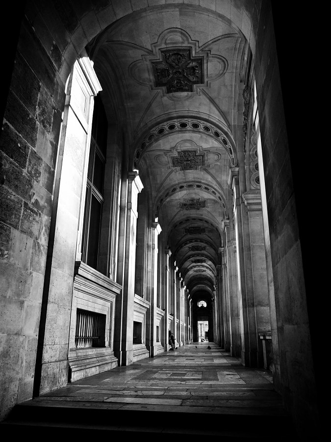 Shot at the Louvre museum in Paris, France.  My friend Claire and I were walking around the museum when I spotted this alleyway (i looove alleyways as you might notice if you follow me). We spent delightful minutes taking some photos and trying to keep our concentration with all the birds and strange smells around. If you don't know Claire, check her out, her photos are stunning!!! http://500px.com/liberphoto