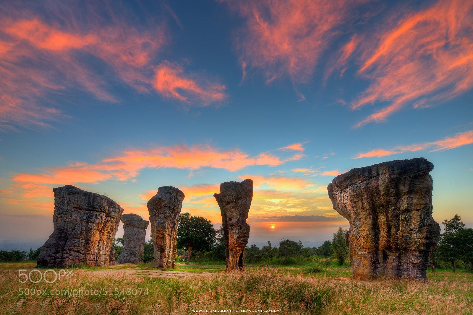 Photograph Sunrise : Mo Hin Khao (Stonehenge of Thailand) by noomplayboy  on 500px